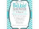 Magnet Invitations Baby Shower Turquoise Teal Chevron Magnetic Baby Shower Invite