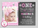 Make 1st Birthday Invitations Birthday Invitation Cards Baby Girl First Birthday
