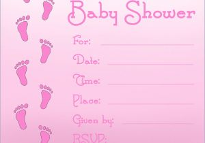 Make A Baby Shower Invitation Online Free Printable Baby Shower Invitations for Girls