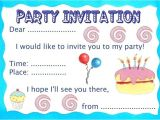 Make An Informal Invitation Card for A Birthday Party Make Your Own Party Invitations
