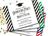 Make Graduation Party Invitations Black and White Graduation Invitation Graduation Invite