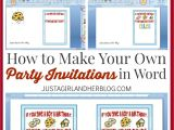 Make Own Birthday Invitations Free Make Your Own Party Invitations
