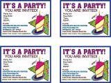 Make Own Birthday Invitations Free top 8 Birthday Party Invitations Printable