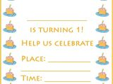 Make Your Own 1st Birthday Invitations 1st Birthday Invitations Make Your Own or Find A Template