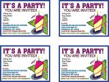 Make Your Own Birthday Invitations Free top 8 Birthday Party Invitations Printable theruntime Com