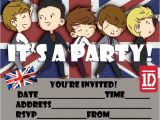 Make Your Own One Direction Birthday Invitations One Direction Free Printable Party Invitation for 1d Fans
