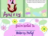 Makeup Party Invitations Free Free Printable Tea Party Invitations Makeup Party