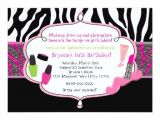 Makeup Party Invitations Free Makeup Makeover Zebra Birthday Party Invitation 4 5 Quot X 6