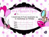 Makeup Party Invitations Free Pamper Party Invitation Make Up Party Ready for An Girls