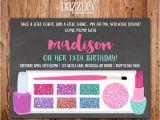 Makeup Party Invitations Free Printable Chalkboard Glamour Girl Makeup Birthday