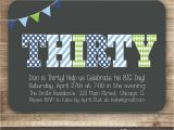 Male Birthday Invitation 30th Birthday Invitation for Men Thirty 40th 50th Birthday