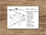 Map for Wedding Invitation Insert Custom Wedding Map event Map Directions Locations