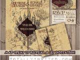 Marauders Map Wedding Invitations Harry Potter Wedding Invitation Set Marauder 39 S Map