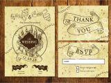 Marauders Map Wedding Invitations Marauder 39 S Map Style Wedding Invitation Wedding Harry