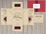 Marauders Map Wedding Invitations Wedding Invitation Set Harry Potter Marauder 39 S Map