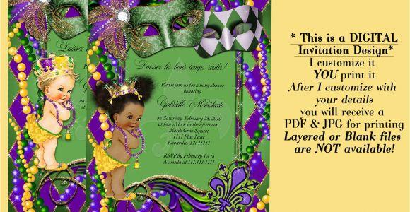 Mardi Gras Baby Shower Invitations Mardi Gras Baby Shower Invitation Baby Shower Mardi Gras