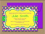 Mardi Gras Baby Shower Invitations Mardi Gras Baby Shower Invitation Editable Mardi Gras