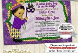 Mardi Gras Baby Shower Invitations Mardi Gras Baby Shower Invitations Boys Green Purple Gold