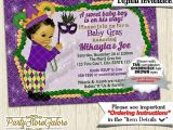 Mardi Gras Baby Shower Invitations Mardi Gras Baby Shower Invitations Boys Green Purple Gold