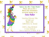 Mardi Gras Baby Shower Invitations Mardi Gras Baby Shower Invitations