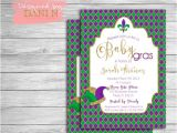 Mardi Gras Baby Shower Invitations Mardi Gras Invitation Baby Shower Mardi Gras Party