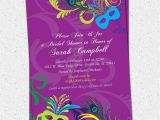 Mardi Gras Bridal Shower Invitations Bridal Shower Invitation Printable Mardigras by Ohcreativeone