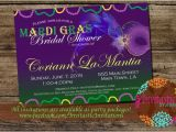 Mardi Gras Bridal Shower Invitations Mardi Gras theme Bridal Shower Invitation New orleans theme