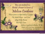 Mardi Gras Bridal Shower Invitations Masquerade Bridal Shower Invitation Purple Mardi Gras