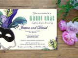 Mardi Gras Bridal Shower Invitations Masquerade Mardi Gras Bridal Shower Invitation Customized