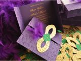 Mardi Gras Quinceanera Invitations Mardi Gras Invitations Wedding Quinceanera Bachelorette