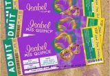 Mardi Gras Quinceanera Invitations Mardi Gras Quinceanera Ticket Invitations Quince Anos