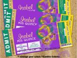 Mardi Gras Quinceanera Invitations Mardi Gras Quinceanera Ticket Invitations Quince Anos