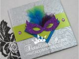 Mardi Gras Quinceanera Invitations Quinceanera Invitation Masquerade Invitation Mardi Gras