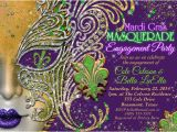 Mardi Gras Quinceanera Invitations Quinceanera Masquerade Party Birthday Masquerade Invitation