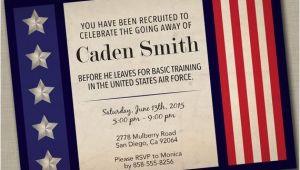 Marine Going Away Party Invitations Military Going Away Party Invitation by Justaddpaperdesigns