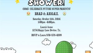 Mario Baby Shower Invitations Mario Birthday Baby Shower Boy Invitation Invite Printable