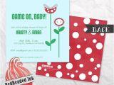 Mario Baby Shower Invitations Super Mario Bros Baby Shower Invitation