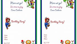 Mario Birthday Invitations Free Super Mario Birthday Invitations Super Mario Birthday
