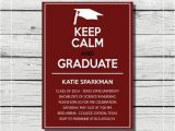 Maroon and White Graduation Invitations Keep Calm and Graduate Graduation Invitation Maroon White