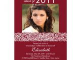 Maroon and White Graduation Invitations Maroon White Photo Graduation Invitation 5 Quot X 7