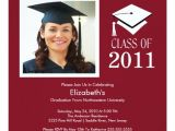Maroon and White Graduation Invitations Photo Graduation Invitation Classy Maroon White Zazzle