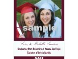 Maroon and White Graduation Invitations Simply Maroon and White Vertical Graduation Card