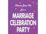 Marriage Celebration Party Invitations Marriage Celebration Party Invitation