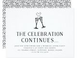 Marriage Celebration Party Invitations Wedding after Party Invitation Insert Card
