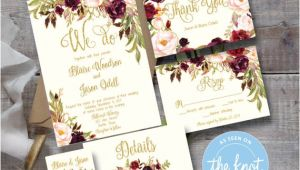 Marsala Wedding Invitation Template Marsala Wedding Invitation Template Printable Editable