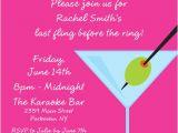 Martini Bachelorette Party Invitations Bachelorette Martini Invitation
