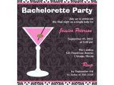 Martini Bachelorette Party Invitations Bachelorette Party Invitation Martini Modern Zazzle