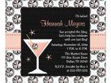 Martini Bachelorette Party Invitations Diamonds Martini Bachelorette Party Invitations Zazzle