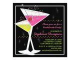 Martini Bachelorette Party Invitations Martini Cocktail Bachelorette Party Invitation Zazzle