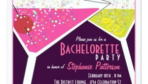 Martini Bachelorette Party Invitations Pink Lime Martini Bachelorette Party Invitation Zazzle Com